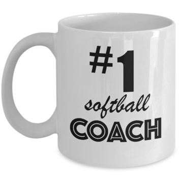 #1 Softball Coach - Coffee Mug Gift