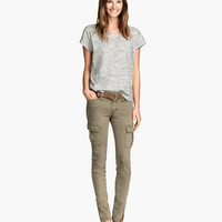 Lyocell-blend Cargo Pants - from H&M