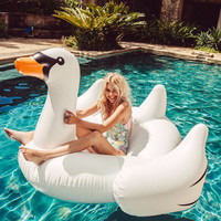 Inflatable White Swan