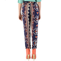 Cuffed Printed Pants - Clothing