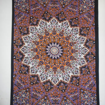 Twin voilet star mandala tapestry Indian Hippie Mandala Tapestry Bohemian Wall Hanging Twin Bedspread Throw Decor