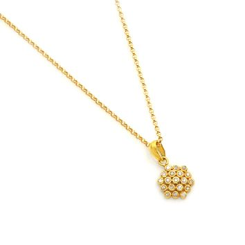 Champagne Diamond Flower Pendant