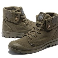 Palladium Baggy Lll Men Turn High Boots Cream-green
