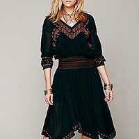 Free People  Neo Folk Embroidered Dress at Free People Clothing Boutique