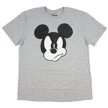 22fe198de Disney Mickey Mouse Distressed Grumpy Face Adult Graphic Design