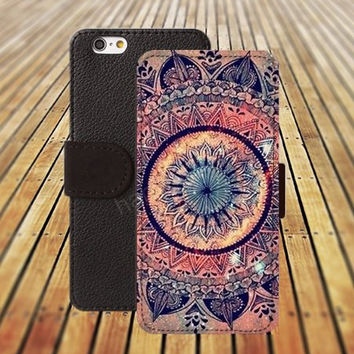 iphone 5 5s case fire Mandara colorful iphone 4/4s iPhone 6 6 Plus iphone 5C Wallet Case,iPhone 5 Case,Cover,Cases colorful pattern L349