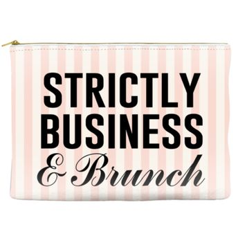 Strictly Business and Brunch Travel Makeup Pouch
