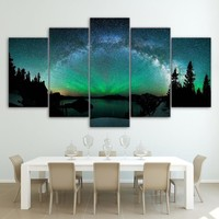 5 piece panel canvas art wall picture print  - Aurora Modular