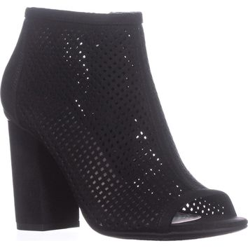 B35 Megan Peep To Booties, Black, 10 US