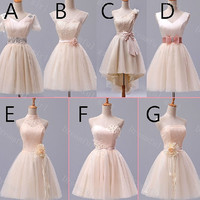 Spring new arrivel tulle different style bridemaid dress ,homecoming dress