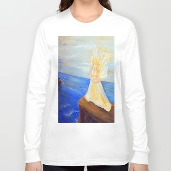 Invite your Angel | Angels are here Long Sleeve T-shirt by Azima