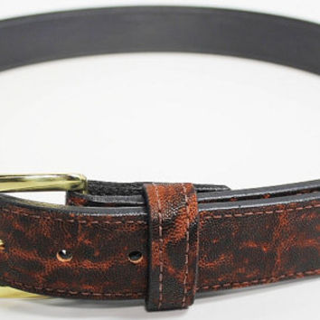 "Genuine Elephant Hide Belt in Dragon's Breath - Real Elephant Skin - Free Shipping, Lifetime Warranty, and Made to Order - Sizes 30"" to 52"""
