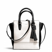 legacy mini tanner crossbody in two tone leather