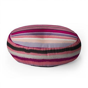 Viviana Gonzalez Painting Stripes 02 Floor Pillow Round
