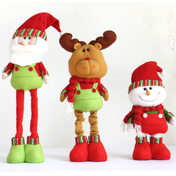Scalable Size Santa Claus Snow Man Reindeer Doll Christmas Decoration Christmas Tree Hanging Ornaments Pendant