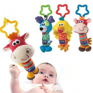 Lovely Newborn Infant Bedside Rattles Toys Soft Rattle Tinkle Hand Bell Toys For Tots Plush Mobiles In Baby Bed Crib Stroller