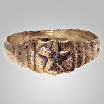 Fanatstic Medieval Mans Star Ring Size 10 1/2 (20.4mm)(BRR69)