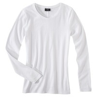 Mossimo® Women's Long Sleeve Lightweight Crew Tee - Assorted Colors
