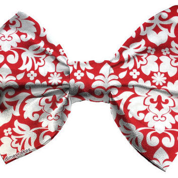 Red Victorian/Baroque Hair Bow