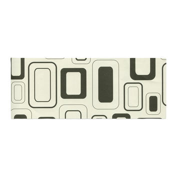 "Heidi Jennings ""Cubes For Days"" Neutral White Bed Runner"