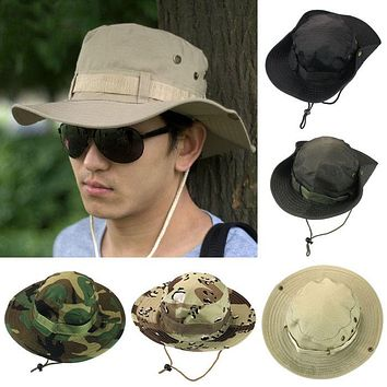 Bucket Hat Boonie Hunting Fishing Outdoor Wide Caps Brim