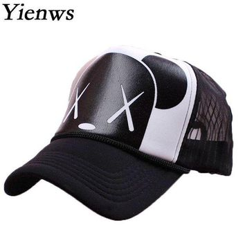 DCCKWJ7 Yienws Women Baseball Cap Summer Cap Snapback Gravity Falls Bone Brim Curved Kawaii Bear Mesh Korean Pop YH221