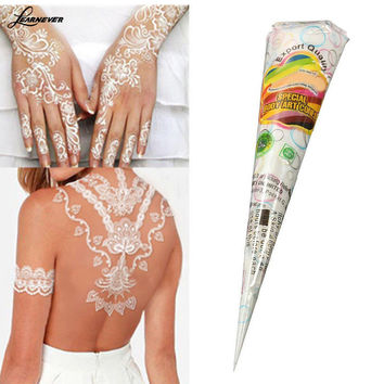 Natural Herbal Henna Cones Temporary Tattoo kit White Body Art Paint Mehandi Ink M02608