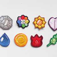 Pokemon Gym Badge Patches! Indigo League