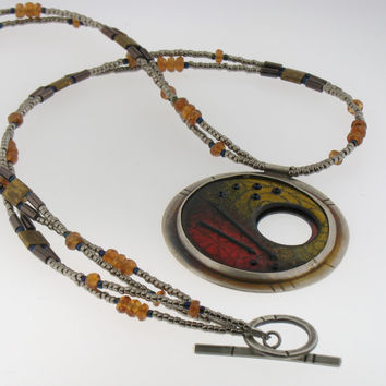 Handmade Unique Enamel Necklace