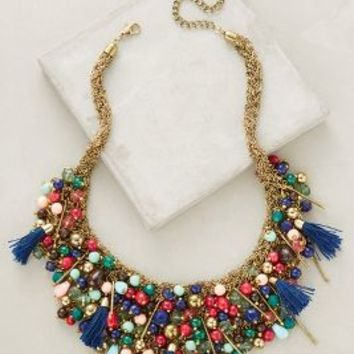 Alamere Bib Necklace by Anthropologie in Gold Size: One Size Necklaces