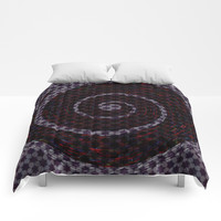 Abstract Vortex Pattern Comforters by alishadawn