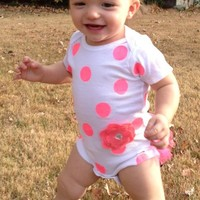BellaBean Boutique | Pink Polka Dot Onesuit | Online Store Powered by Storenvy