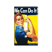Rosie The Riveter - War Poster Light Switch Plate Cover