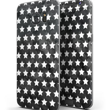 Black and White Watercolor Stars - Full Body Skin-Kit for the Samsung Galaxy S7 or S7 Edge