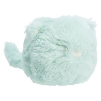 COZY LUX FAUX FUR MINI ANIMAL PHONE HOLDER, CAT, MINT FUR