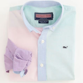 Boys Button Down Shirts: Antigua Gingham Party Shirt S - XL– Vineyard Vines