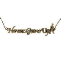 Disney Peter Pan Never Grow Up Necklace
