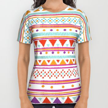 NATIVE BANDANA All Over Print Shirt by Nika | Society6