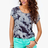 Open Back Tie Dye Top