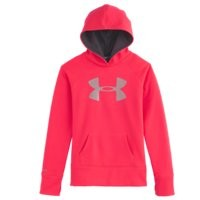 Under Armour Girls Armour Fleece Storm Big Logo Hoodie