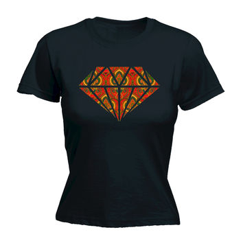 123t USA Women's Rug Diamond Design T-Shirt Funny T-Shirt