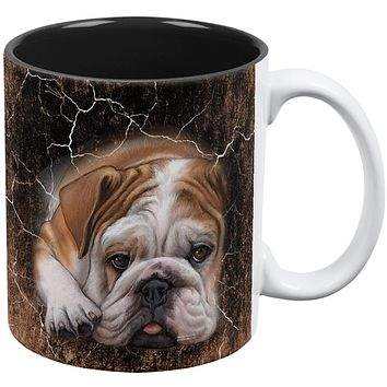 English Bulldog Live Forever All Over Coffee Mug
