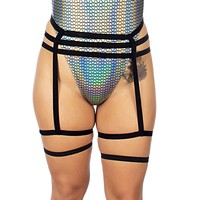 Hug Me Tight Body Harness with Attached Leg Garters