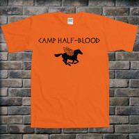 Camp Half-Blood Greek Mythology Percy Jackson Book Demi God Funny College Humor Joke Geek Nerd Club Bar Hipster Novelty T-shirt Tee Shirt