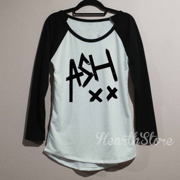 Ashton Irwin 5SOS Shirt Five Seconds of Summer Shirt Baseball Raglan Shirt Tee Long Sleeve TShirt T Shirt Women - size S M L
