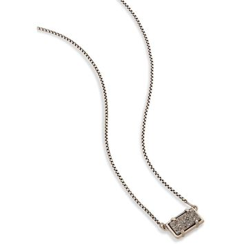 Kendra Scott: Pattie Pendant Necklace in Platinum Drusy