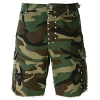 Indie Designs Saint Laurent Inspired Studded Bermuda Camouflage Shorts
