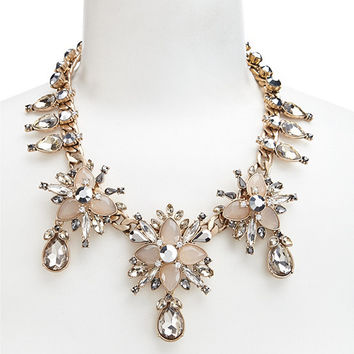 Belle Badgley Mischka Teardrop Frontal Necklace | Dillards