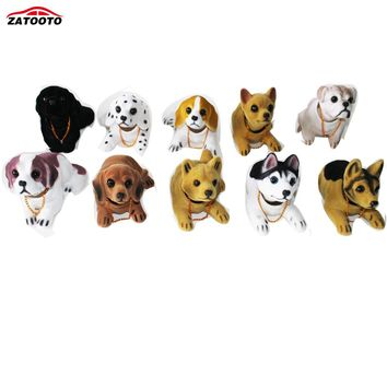 Cute Dog Car Ornament Shaking Head Doll Car Interior Decorations With Antislip Pad Auto Dashboard Ornaments Accessories