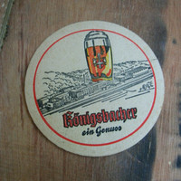 Vintage German coaster.German bier,barware,rare coaster,breweriana,bar,collectible,bar accesories,beer,table coasters,drink coaster,coasters